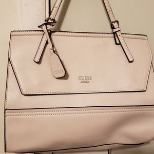 Guess cream colored satchel